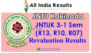 JNTUK 3-1 (R13, R10, R07) Revaluation/Recounting Results 2018 April