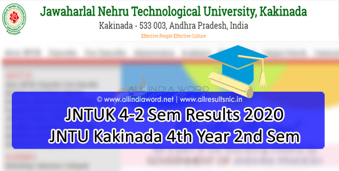 JNTUK 4-2 (R13, R10, R07) Regular Supply Results 2020 - B.Tech BPharm
