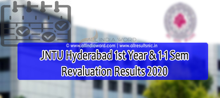 JNTUH Revaluation Recorrection Results 2020
