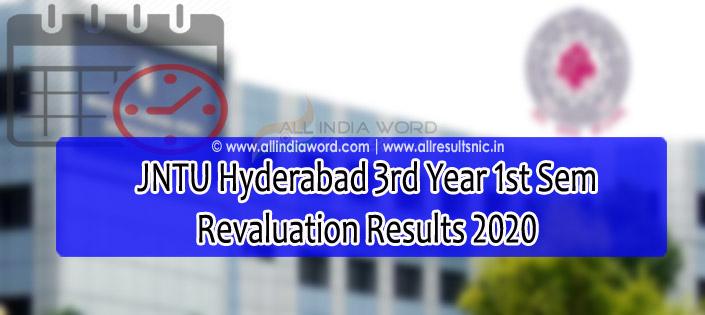 JNTUH 3-1 Recounting Results 2020