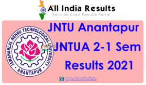 JNTUA 2nd Year 1st Semester Results 2021